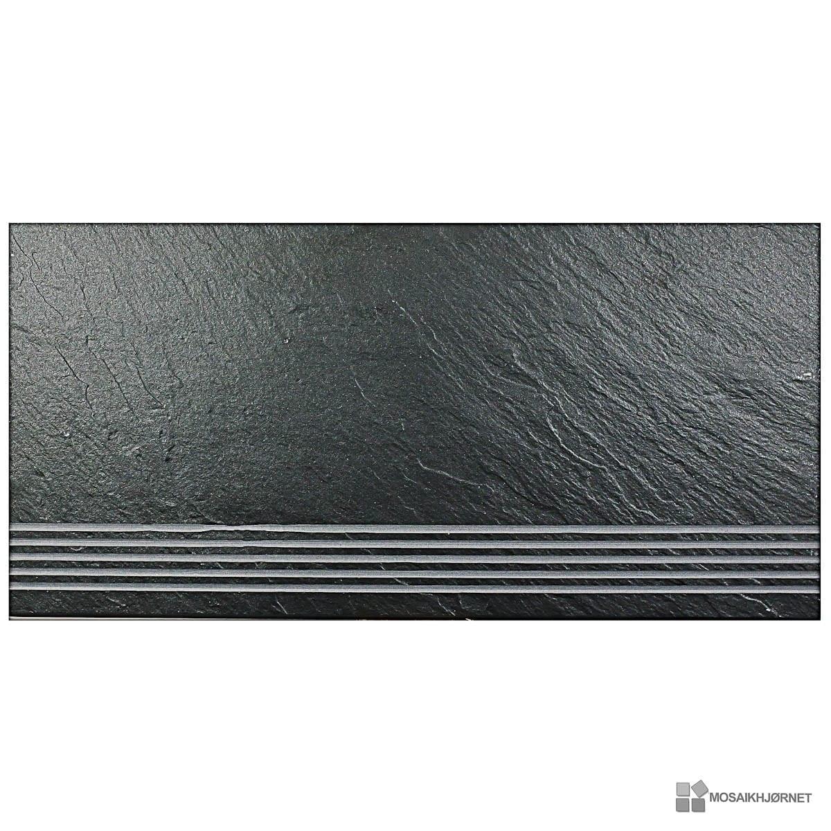 Black Ardesia PS trappe 30x60 - Mosaikhjørnet - Fliser, klinker og ...
