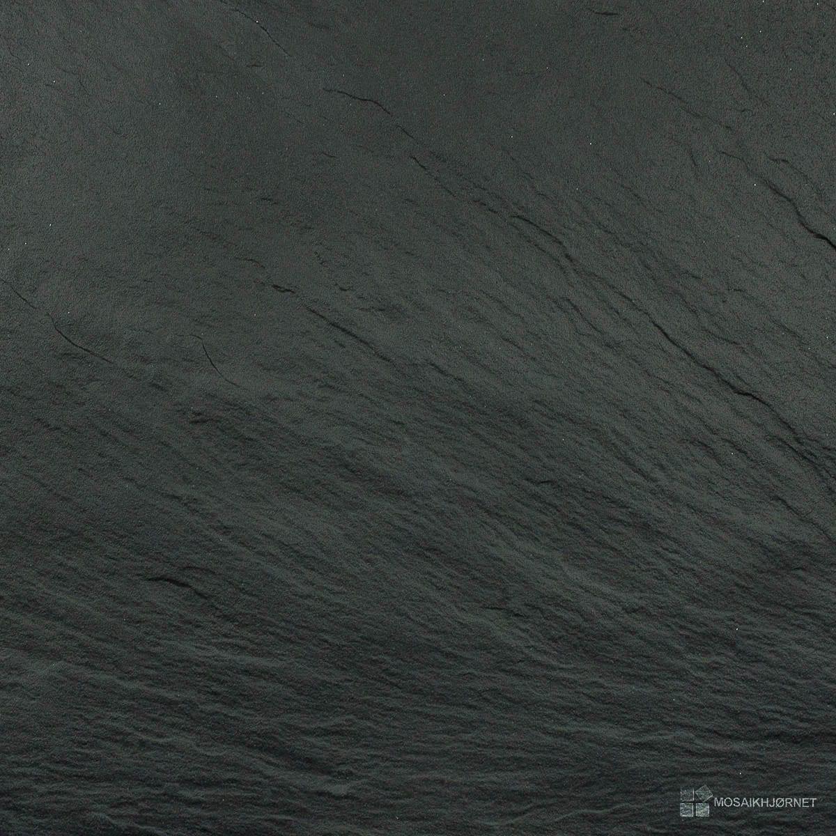 #515B5B Mest effektive Black Ardesia PS 60x60 Mosaikhjørnet Fliser Klinker Og Mosaik Til Badevæ  Fliser Til Bad Og Køkken 4805 120012004805