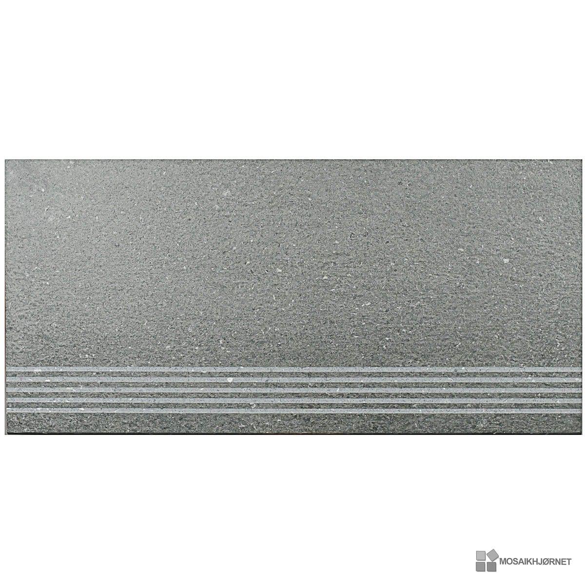 Basalto Grigio PS trappe 30x60 - Mosaikhjørnet - Fliser, klinker og ...