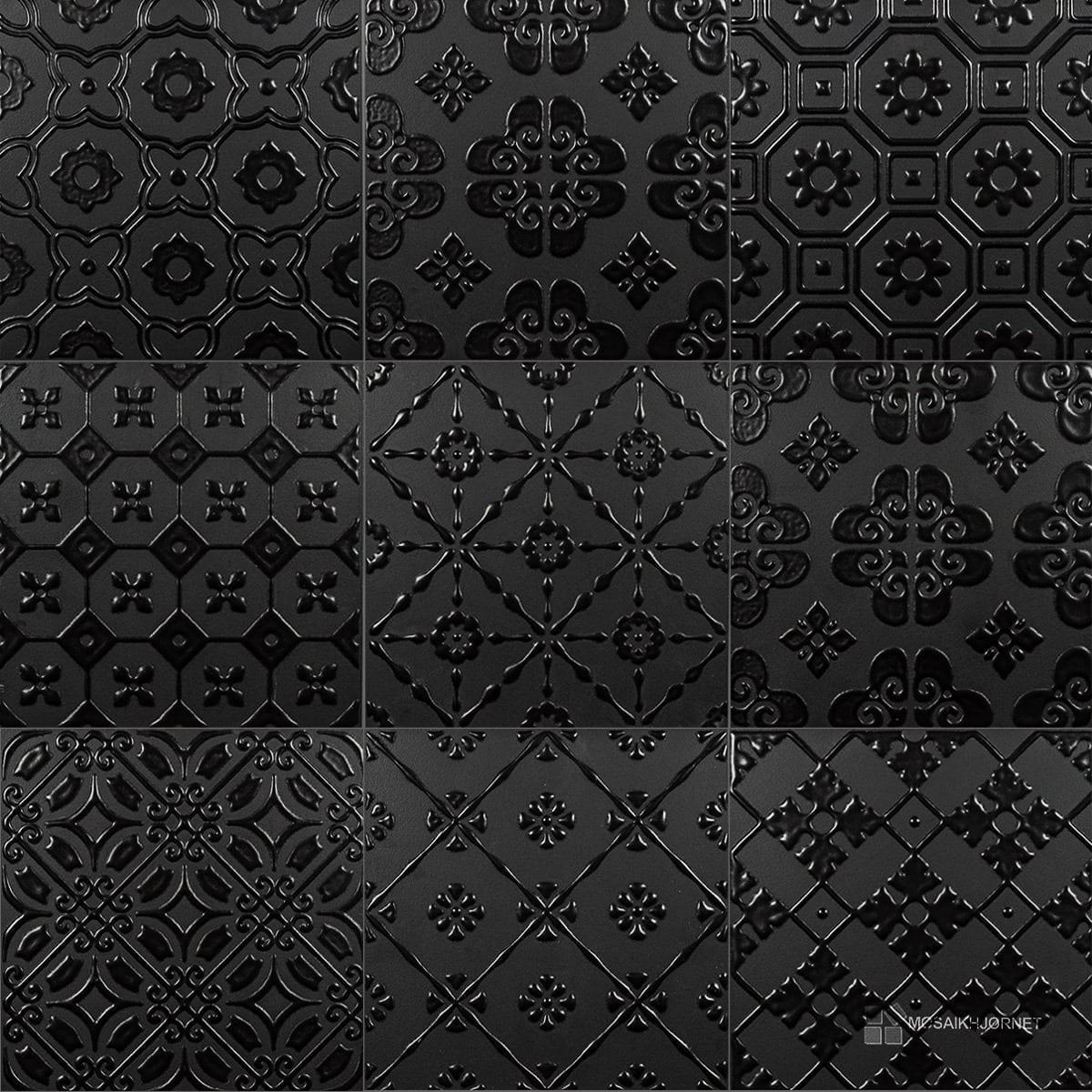 #686763 Mest effektive 20x20 Bon Ton Sort På Sort Mosaikhjørnet Fliser Klinker Og Mosaik Til Ba  Fliser Til Bad Og Køkken 4805 120012004805