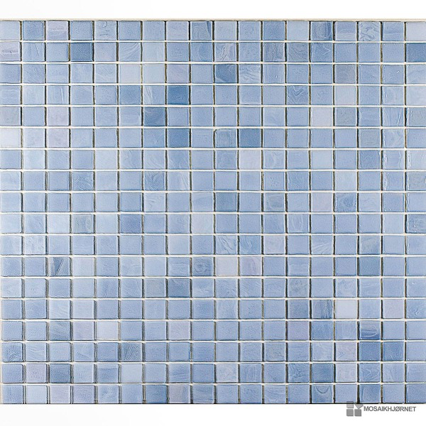 Glasmosaik isblå 1,5x1,5 - Mosaikhjørnet - Fliser, klinker og mosaik ...