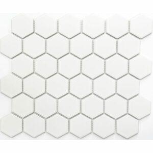 2850250-Hexagon-Hvid-Mat-51x59mm