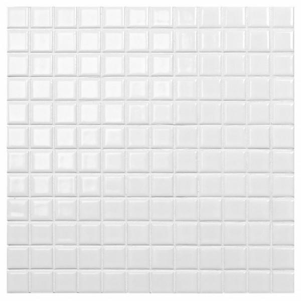 hvid mosaik væg