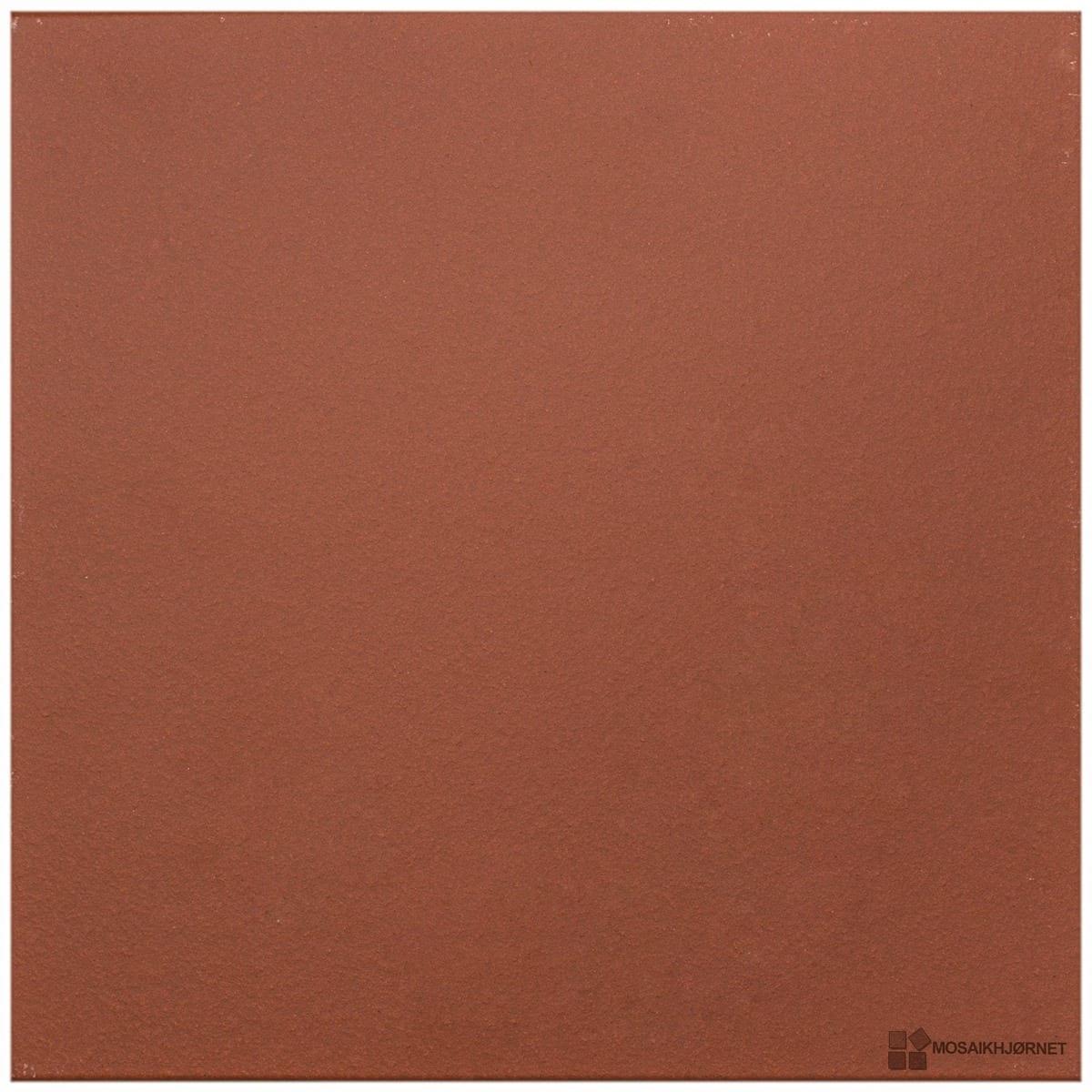 uglaseret rød 24x24 - mosaikhjørnet - fliser, klinker og mosaik til