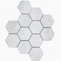 City Grå Hexagon Mosaik