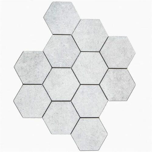 City Grå Hexagon Mosaik