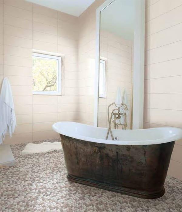 mosaik badeværelse City Mosaik bad lysmix   Mosaikhjør  Fliser, klinker og mosaik  mosaik badeværelse