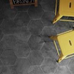 himmelbjerget hexagonfliser hexagon fliser klinker klinke flise gulvflise gulvfliser gulvklinke gulvklinker