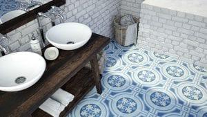 New York pattern blaa klinke klinker flise fliser gulvflise gulvklinke gulvklinker gulvfliser